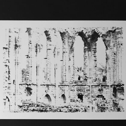 skeleton /// print on cardboard (17x14,5 cm)